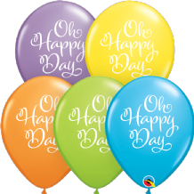 Simply Oh Happy Day Balloons (Assorted) - 11 Inch Balloons 25pcs